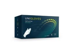 Перчатки смотровые виниловые нестерильные UNIGLOVES неопудренные прозрачные (100 штук в упаковке)