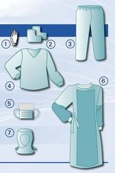 Защитный комплект врача-инфекциониста одноразовый