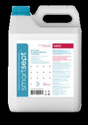 Универсальное дезинфицирующее средство кожный антисептик для рук ТМ «SmartSept» MED в канистрах 5 л