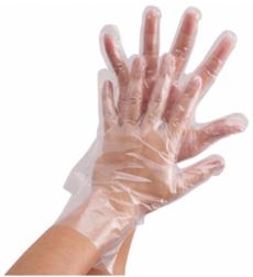 Перчатки одноразовые полиэтиленовые прозрачные