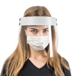 Набор: защитный экран + маски медицинские трехслойные одноразовые (5 шт.)